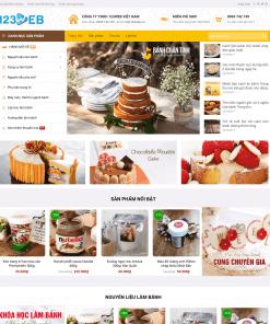 Giao diện wordpress đẹp cho cửa hàng bán bánh ngọt