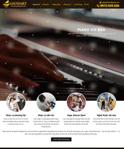 Theme WordPress cho trung tâm dạy đàn Piano