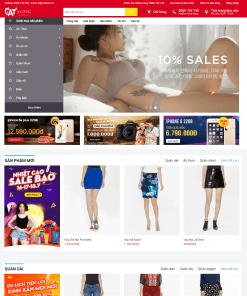 Theme WordPress thời trang công sở nữ Cat Shopping